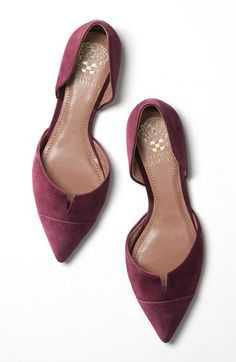 Maroon Flats by Vince Camuto at Nordstrom's - Pinterest