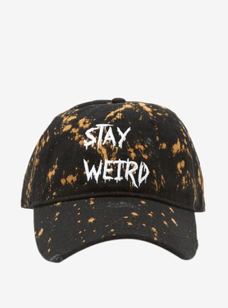 *clipped by @luci-her* Stay Weird Acid Wash Dad Cap