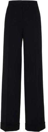 Jil Sander High-Rise Wide-Leg Wool Pants