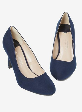Wide Fit Navy 'Dallas' Court Shoes - Shoes- Dorothy Perkins United States