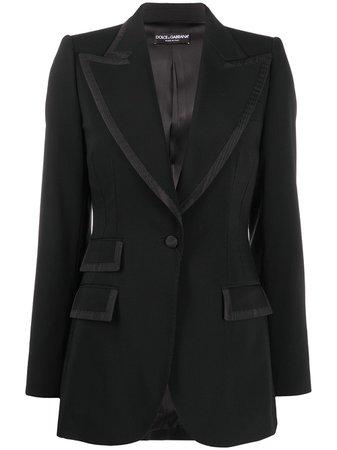 Dolce & Gabbana Peak Lapel Blazer Jacket - Farfetch