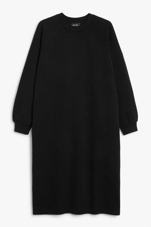 Midi sweater dress - Black - Midi dresses - Monki WW