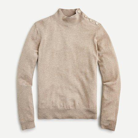 J.Crew: Silk-blend Shoulder-button Sweater For Women cream