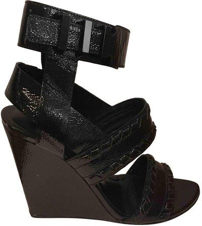 Black Leather Sandals