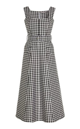 Gingham Belted Dress by Emilia Wickstead | Moda Operandi