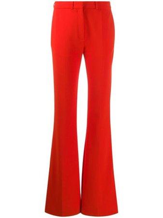 Victoria Victoria Beckham Split Hem Flared Trousers 2120WTR000431A Orange | Farfetch