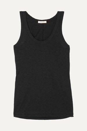 Slub Cotton-jersey Tank - Black