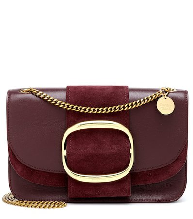 Hopper Medium leather shoulder bag