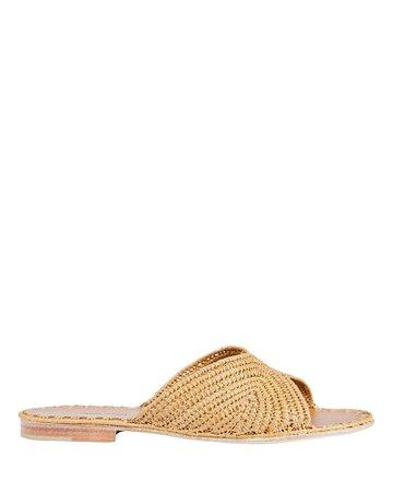 Carrie Forbes   Salon Raffia Slide Sandals   INTERMIX®