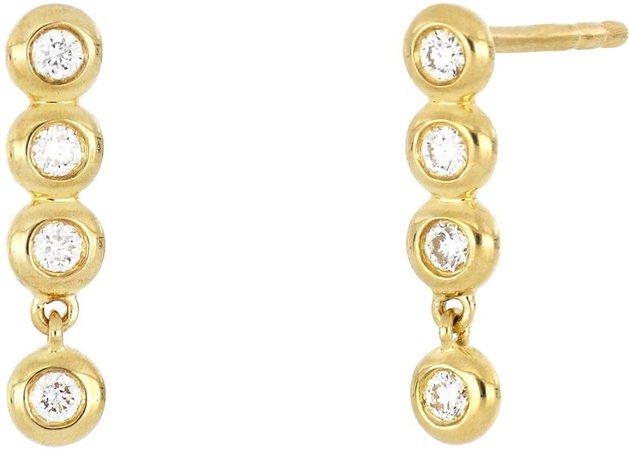Monaco Diamond Drop Earrings