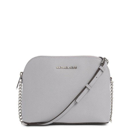 Michael Kors Cindy Saffiano Leather Small Chain Crossbody Bag 32h4scpc7l In Grey - Excel Clothing