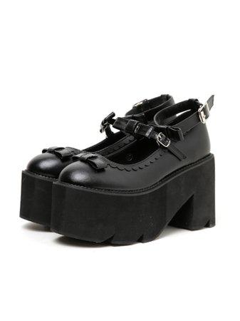 3連リボン厚底パンプス(シューズ(靴)/パンプス)|BUBBLES(バブルス)の通販|ファッションウォーカー