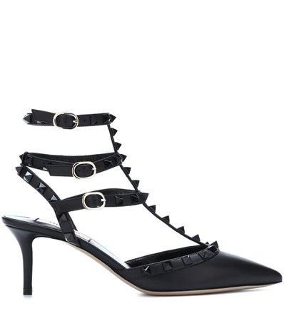 Valentino Garavani Rockstud Leather Pumps | Valentino - mytheresa