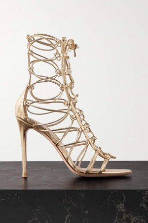 105 Metallic Leather Sandals - Gold