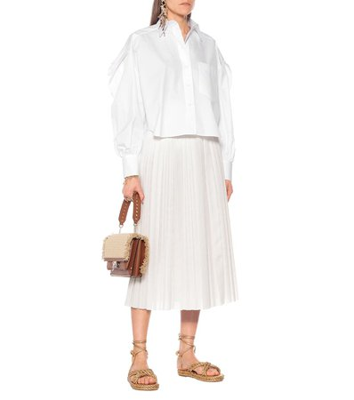 Cotton-Poplin Blouse | Valentino - Mytheresa