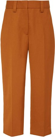 Patrina Wool-Blend Cropped Trousers