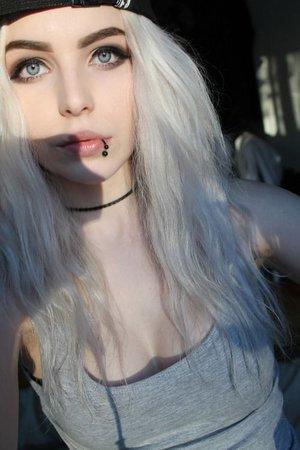 White Haired Emo Girl