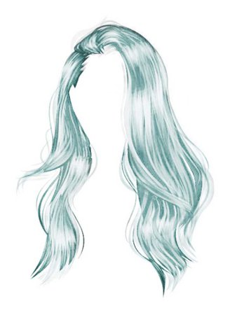 I've light blue teal sea foam hair