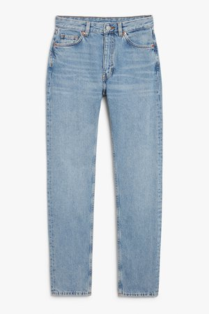Kimomo mid blue tall jeans - Country blue - Jeans - Monki WW