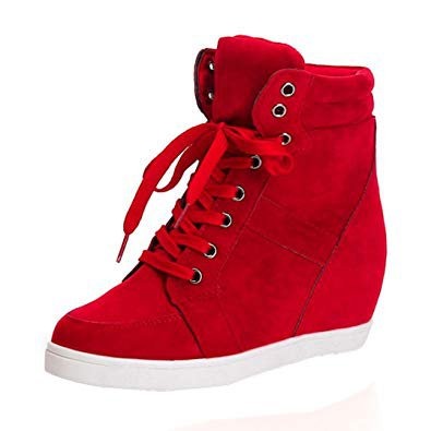 autumn red high top shoes - Google Search