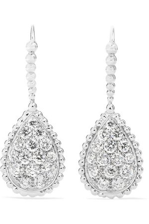 Boucheron | Serpent Bohème 18-karat white gold diamond earrings | NET-A-PORTER.COM