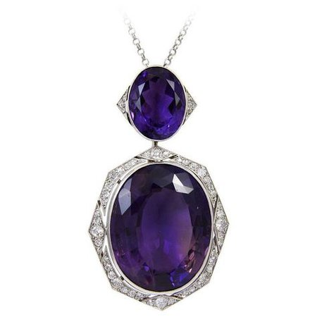 amethyst necklace (Art Deco)