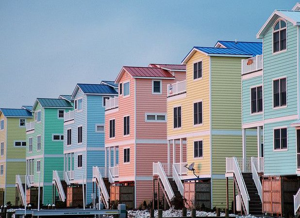 pastel houses - Google Search
