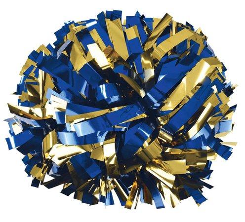 blue and gold pom pom