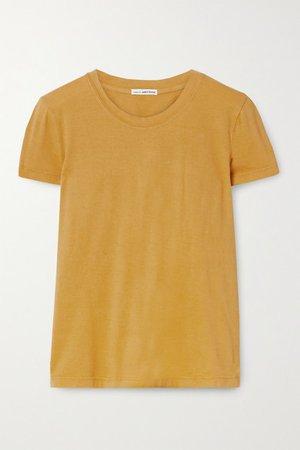 Vintage Little Boy Cotton-jersey T-shirt - Mustard
