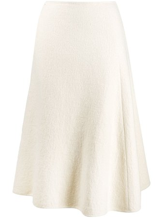 Jil Sander High Waist Wool Skirt - Farfetch