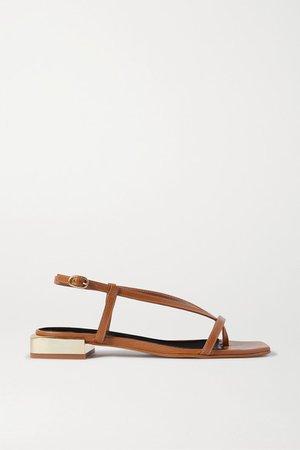 Paulina Leather Sandals - Tan