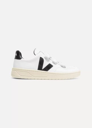 V-lock Leather Sneakers - White