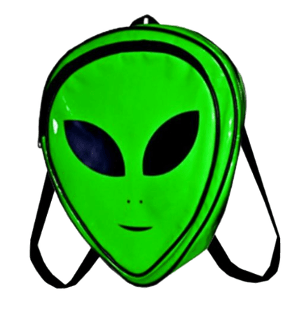 sticker transparent aesthetic overlay png alien backpac...