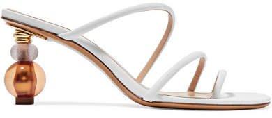 Noli Leather Mules - White