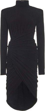 Alexandre Vauthier Velvet Knit Draped Dress