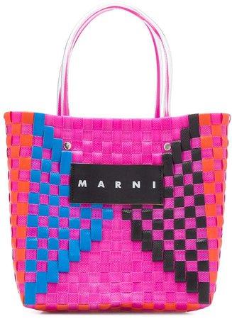 Marni Market Woven Tote Bag