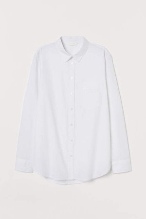 Cotton Shirt - White