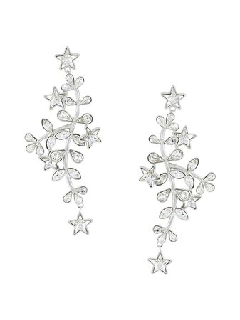 Dsquared2 Crystal Vine And Star Earrings - Farfetch