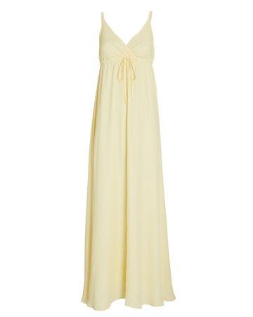 L'Agence Sachi Crepe Maxi Dress | INTERMIX®