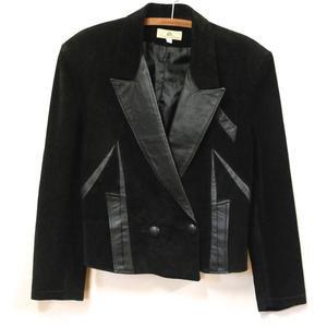80s Adele Palmer Black Suede Leather Jacket Vintage Sharp   Etsy