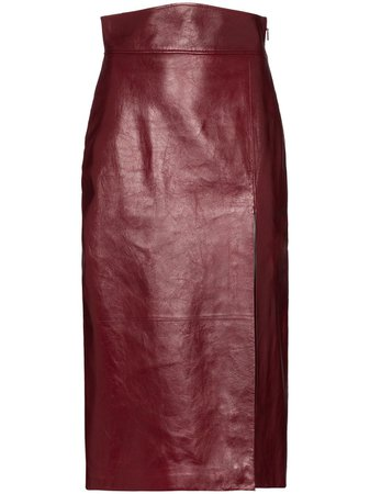 Gucci Leather Pencil Skirt Ss20