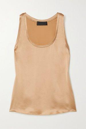 Gold Cosette silk-satin tank | Nili Lotan | NET-A-PORTER