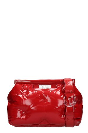 Maison Margiela Glam Slam Patent Red Quilted Leather Bag