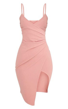 Pretty Little Thing Wrap Bodycon Mini Dress