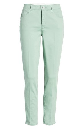 Wit & Wisdom Ab-Solution High Waist Ankle Skinny Pants (Regular & Petite) (Nordstrom Exclusive)  green