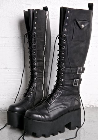 Current Mood Jane Doe Boots | Dolls Kill