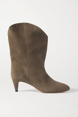 Dernee Suede Ankle Boots - Taupe