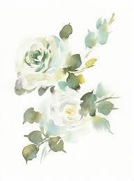 green flower watercolor - Google Search