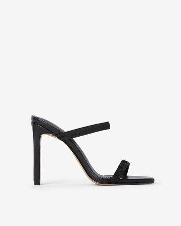 Elastic Strap Heeled Sandals