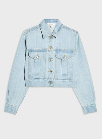 Blue Cropped Oversized Light Denim Jacket | Miss Selfridge